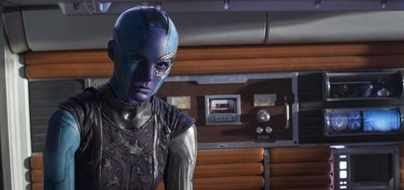 "Karen Gillan's Nebula has gone through much character development throughout both ""Guardians of the Galaxy"" films. Youtube Screen grab]"