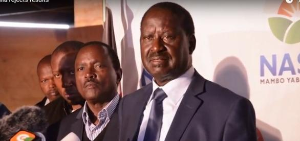 Kenya opposition leader - Raila Amolo Odinga Image viaTuko/Tuco/Youtube Screen cap https://www.youtube.com/watch?v=lHCTOKGy9eY