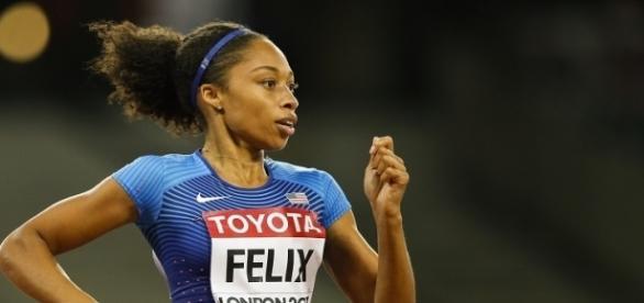 Sei titoli olimpici e nove mondiali: semplicemente Allyson Felix, finalista a Londra sui 400 metri