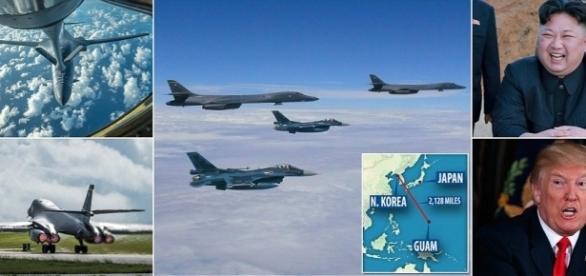 """Trump îl duce pe Kim în pragul războiului amenințându-l cu """"foc și furie"""" - Foto: Daily Mail"""