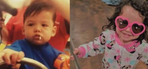 Two separate photos showing the two children of Cynthia Randolph. - YouTube/Inside Edition