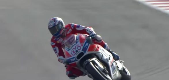 Andrea Dovizioso in sella alla Ducati nel Motogp Misano 2017