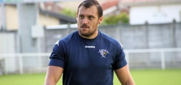 Lionel Beauxis, l'ouvreur du LOU a joué à la Section Palloise/ Rugby Scapulaire
