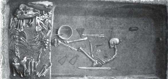 Los investigadores hallan en Suecia una tumba con los restos de una mujer vikinga guerrera