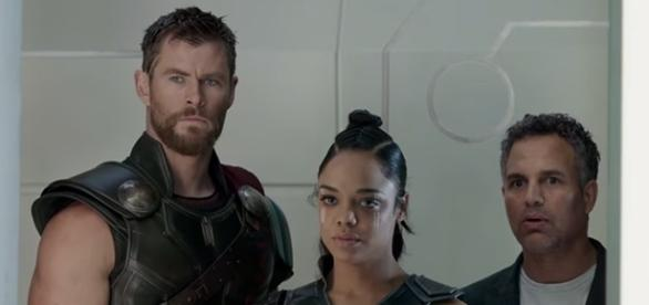 Thor enlists the help of Valkyrie and Hulk (and his brother, Loki) to save Asgard from Hela. (YouTube/Marvel Entertainment)