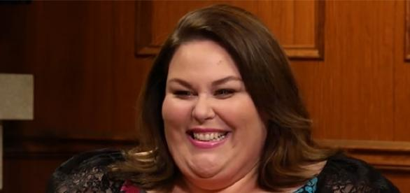 """Chrissy Metz plays one third of the Big Three in NBC's """"This is Us."""" (YouTube/Larry King)"""