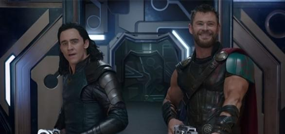 "Tom Hiddleston and Chris Hemsworth return to reprise their roles as Loki and Thor in ""Thor: Ragnarok"" later this year. (YouTube/Marvel)"