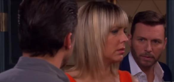 Days of our Lives Nicole, Eric, and Brady. (Image via YouTube screengrab/NBC)