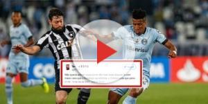 Disputa de bola - Grêmio x Botafogo