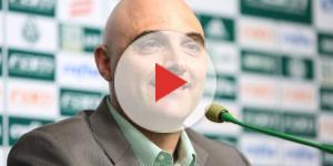 Presidente do Palmeiras concede coletiva