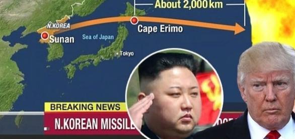 Coreea de Nord a făcut un alt test cu o rachetă balistică intercontinentală deasupra Japoniei - Foto: colaj creative commons