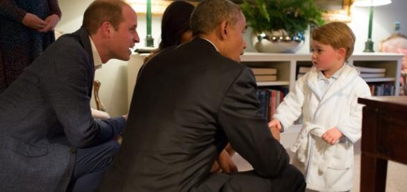 Prince George and Obama, Image Credit: Obama White House / Flickr