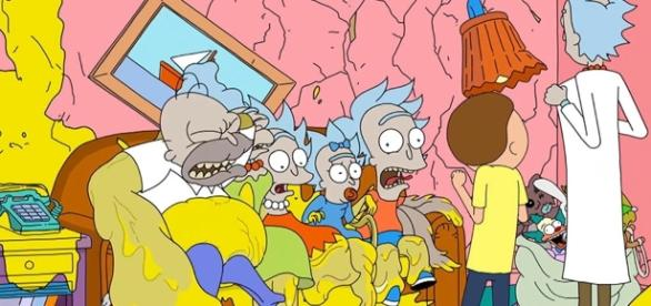 Image Source: Rick and Morty Simpsons Couch Gag video on YouTube by Adult Swim