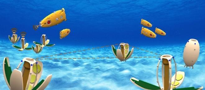 Pesci robot nell'Arsenale di Venezia