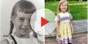 Desde 1950, as meninas da Família Hirt usam o mesmo vestido. Reprodução Internet