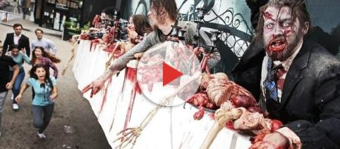 Una valla publicitaria con zombies 'vivos' para promocionar The Walking Dead