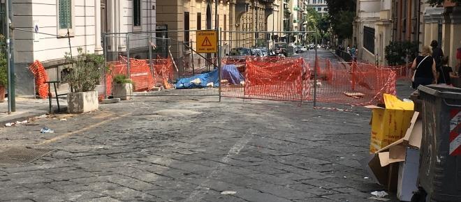Napoli: i lavori in Via Crispi sono troppo lenti