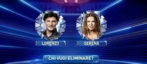 Grande Fratello Vip, Serena e Lorenzo in nomination