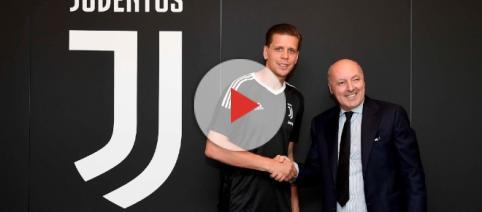 Szczesny durante la presentazione alla Juventus.
