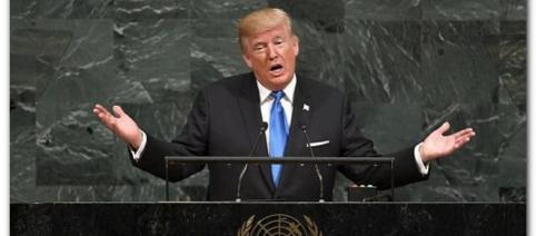 Trump și-a transmis primul său mesaj naționalist și îndreptat împotriva dușmanilor SUA la ONU - Foto: Daily Mail (© AFP/Getty Images)