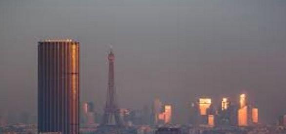 La Tour Montparnasse nel panorama di Parigi