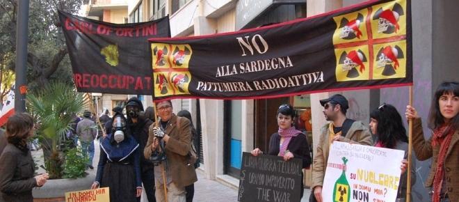 Protesta anti-nucleare in Sardegna