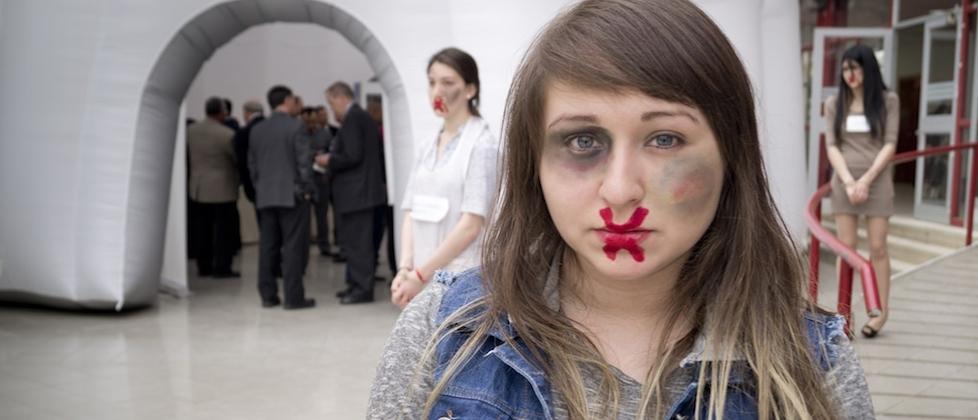 Marcha en contra de la violencia de género en Ciudad de México