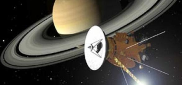 Cassini orbiting Saturn (NASA)