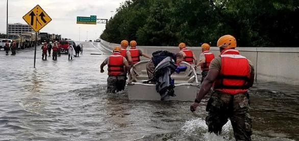 Hurricane rescue efforts. [Image via Zachary West/Wikimedia Commons]