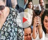 Sonia Abrão explicou qual a razão dos filhos de Marcelo Rezende brindarem com vinho ( Fotos - Reprodução )