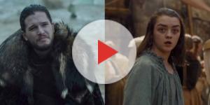 Arya Stark e Jon Snow del Trono di Spade