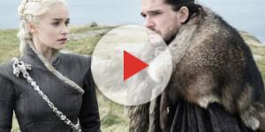 Daenerys Targaryen e Jon Snow del Trono di Spade