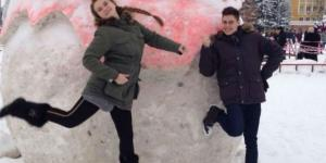 Aleksandra and Josh from a social network post