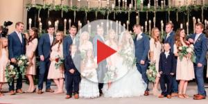 Jana Duggar shows pre-courtship weight loss at Joe Duggar wedding? Source Youtube TLC