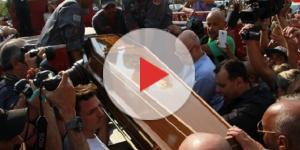 Milhares de pessoas se reuniram no velório de Marcelo Rezende