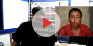 O estuprador foi preso pela polícia e conduzido à delegacia da cidade