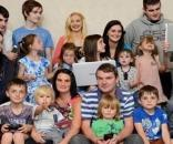 Família Radford, a maior família do Reino Unido. (Reprodução Internet)