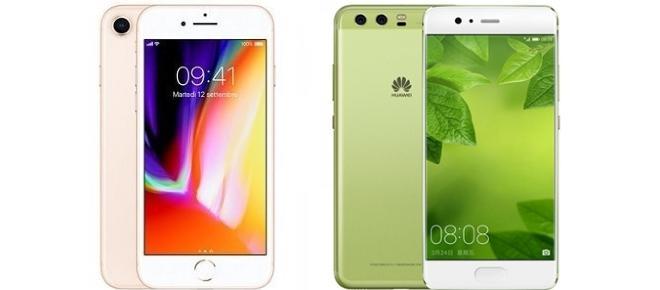 iPhone 8 vs Huawei P10: scheda tecnica a confronto