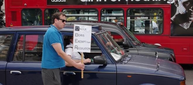 London's black cab drivers rejoice over Uber's ejection