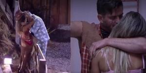"""""""A Fazenda"""": Marcos Harter e Ana Paula Minerato se beijam e clima esquenta. Flavia Viana também se dá bem"""