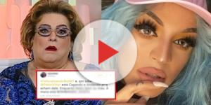 Os internautas não perdoaram Mamma Bruschetta (Foto - Reprodução/SBT)
