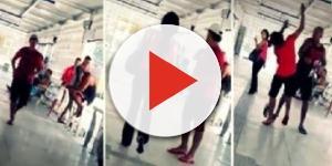 Funkeiro com som alto apanha no Rio de Janeiro