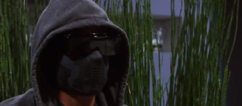 Steve Burton is the man behind the mask. Youtube screen capture / General Hospital