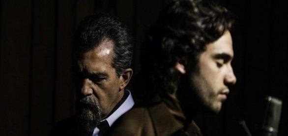 La Musica del silenzio: Antonio Bandearas e Toby Sebastian (immagine tratta dal film)