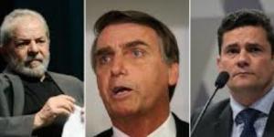 Lula da Silva, Bolsonaro e Sérgio Moro