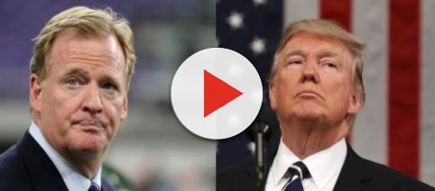 Roger Goodell and Donald Trump, via Twitter
