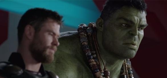 "Chris Hemsworth and Mark Ruffalo reprise their roles as Thor and Hulk in the upcoming ""Ragnarok"" film. (YouTube/Marvel Entertainment)"