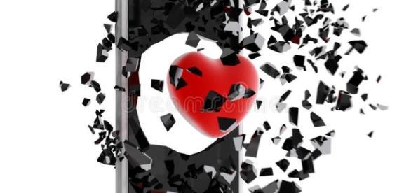 Cuore Rosso Scoppiato Dallo Smartphone Illustrazione di Stock ... - dreamstime.com