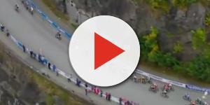 Il gruppo nei km finali dei Mondiali di ciclismo