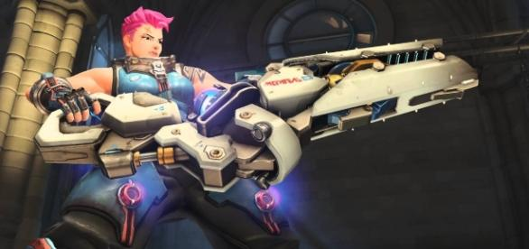 'Overwatch' hero Zarya. (image source: YouTube/Overwatch)